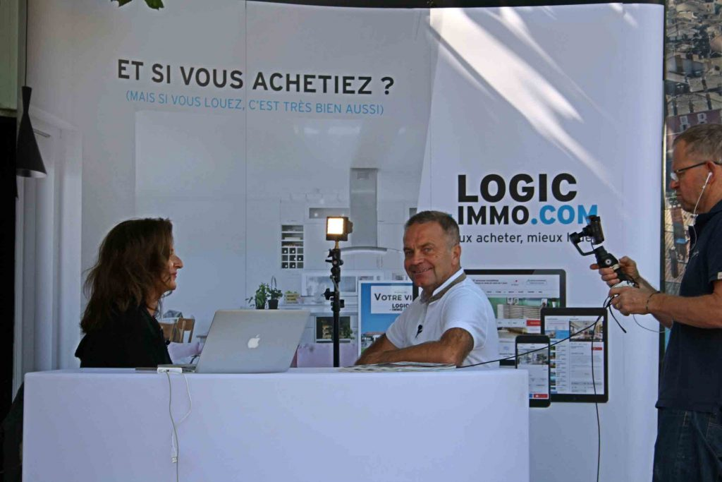 Richard Cayer Barrioz de Prox'immo interviewé au Salon Immobilier de Voiron 2017